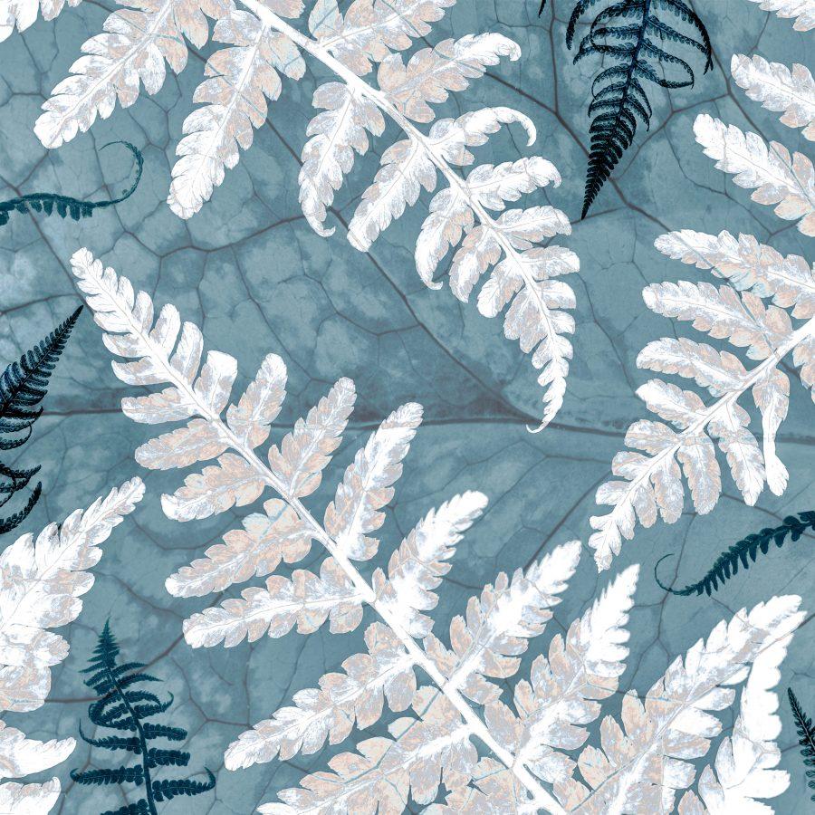 blue-white-fern-ferns-veins-macro-textures