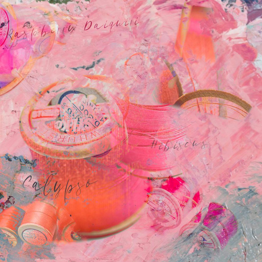 cotton-reels-flourescent-pink-neon-orange