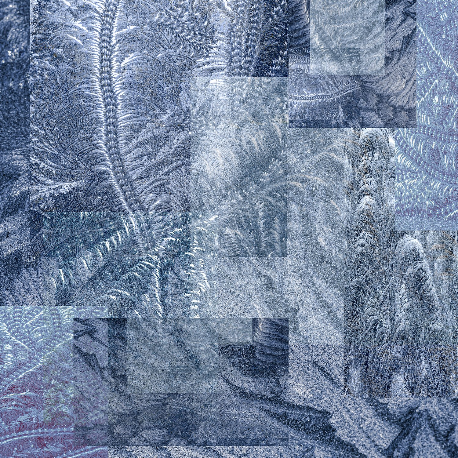 collage-shapes-textures-frost-patterns-blue-dark-ink -pressed-glass-fern-scroll