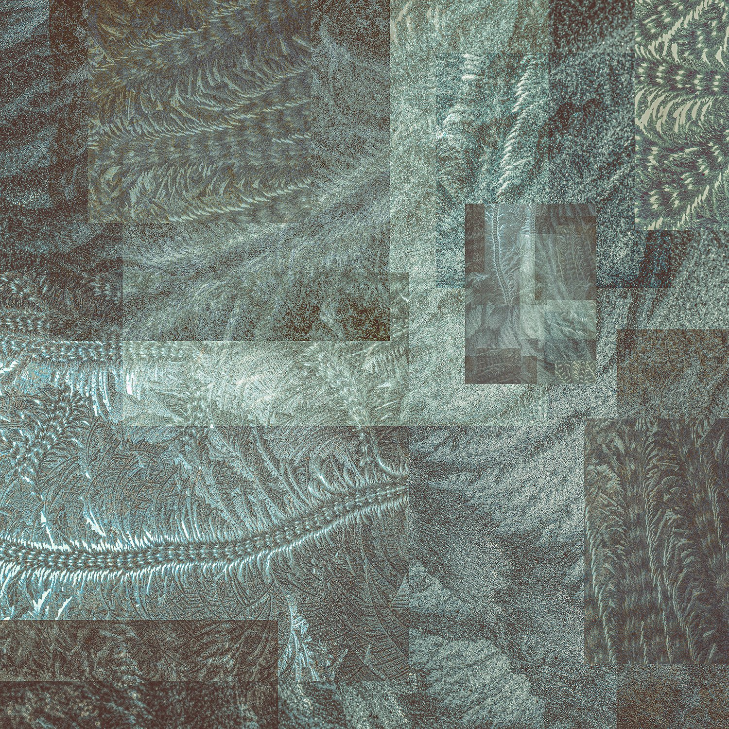 collage-shapes-textures-frost-patterns-pale-dark-green-pressed-glass-sage-fern-scroll